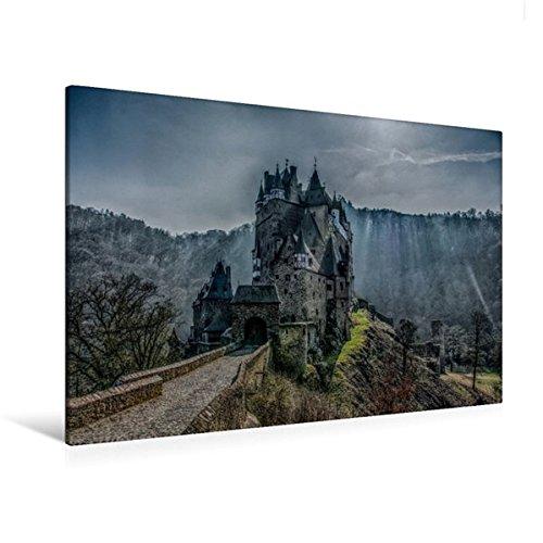 Calvendo Premium Textil-Leinwand 120 cm x 80 cm quer, Burg Eltz | Wandbild, Bild auf Keilrahmen, Fertigbild auf echter Leinwand, Leinwanddruck Natur Natur - Leinwand Burg