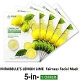 MIRABELLE LEMON LIME FAIRNESS FACIAL MASK (A PACK OF 5)