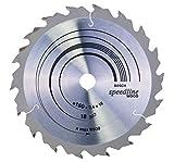 Bosch Zubehör 2608640785 Kreissägeblatt Speedline Wood 160 x 16 x 2,4 mm, 18