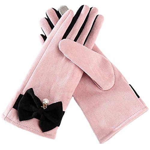 Touchscreen Handschuhe Damen, Morbuy Fahrradhandschuhe Winterhandschuhe Damen Warme Handschuhe Winter Handschuhe mit Fleecefutter (Rosa) (Snowboard-handschuhe Gore Burton)