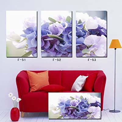 Transparent purple flowers Frameless paintings canvas modern art of three pieces?canvas prints?painting canvas panels , wall decal? canvas ? prints? arts? , wall modern abstract, modern abstract huge, beautiful modern abstract - cheap UK light shop.