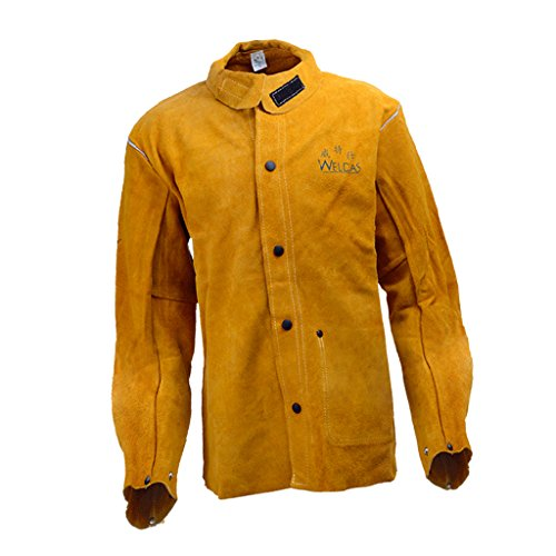 Sharplace Schweißer Schweißen Jacke Schutzkleidung Bekleidung Anzug Schweißerschutzjacke Schweißerjacke - L (Feuerhemmende Kleidung)