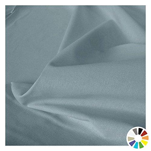 TOLKO Baumwollstoff Meterware - OEKO-TEX® Baumwoll-Qualität, Leichter Klassiker zum Nähen und Dekorieren (Blau-Grau) (Blauer Stoff Tischdecke)