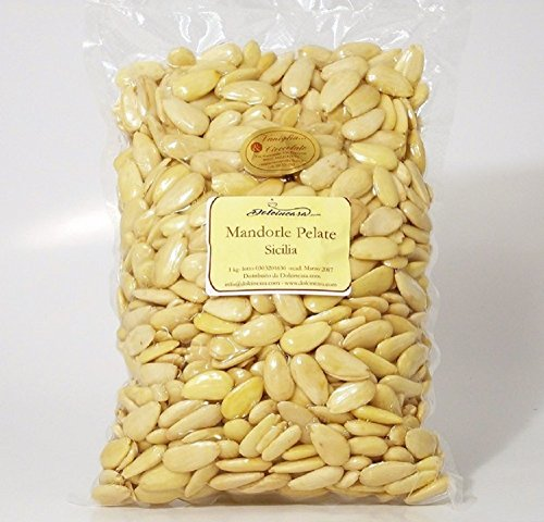 Mandorle Pelate Sicilia Made in Italy Calibrate Scelte- 1kg