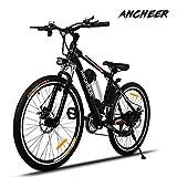 Ancheer Elektrofahrrad 26Zoll/20Zoll Zoll E- Bike Mountainbike, 25-50km/h Meilen Kilometerstand, 36V 8AH Abnehmbarer Akku and 21 Gang Getriebe (26Zoll /20Zoll)