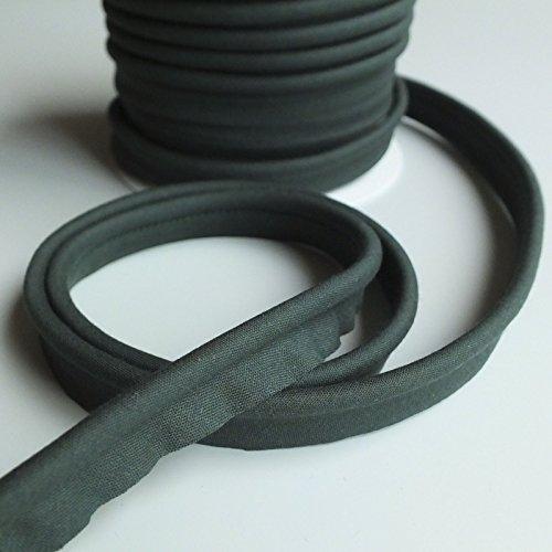 m Einsatz Paspelierung Cord Poly Baumwolle Bias Schnitt–Meterware–viele Farben, Polyester baumwolle, flaschengrün, 7 mm (Poly Cord)