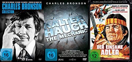 Preisvergleich Produktbild 6 Filme CHARLES BRONSON Mega Collection - Kalter Hauch / The Mechanic + Der einsame Adler + Sperrfeuer auf Quadrat Zero + Twinky und der Amerikaner / Der Einsame / Das Raubtier II - DVD Limited Edition