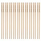 HOMIZE Premium Natural Bamboo Chopstick, 9.5 inch, Set of 10 Pairs (Bright)