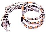 MADE IN ZEN Lot de 3 Bracelet brésilien Amitié Coton Friendship Coton Macramé Porte Bonheur Homme Femme Fille garçon Marron Noir