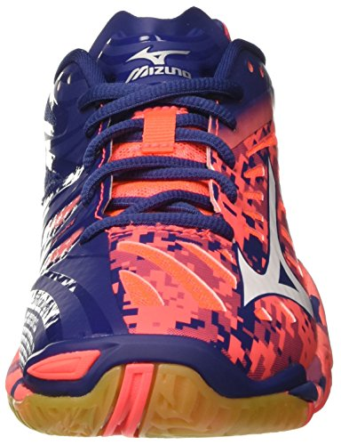 Miraggio fierycoral Twilightblue Uomo Wave Tennis Multicolore Mizuno Scarpe Da Bianco 5f0nqR