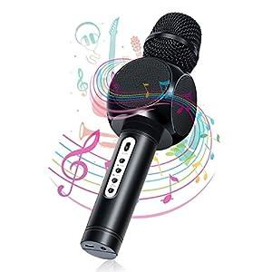 Karaoke Bluetooth microfono, nasum Caricabatterie e microfono wireless musica giocare e cantare per adulti e bambini compatibile con Android/iOS, PC o all smartphone