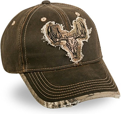 Realtree Xtra Weathered Cotton Camo Deer Skull Patch Cap by Outdoor Cap - Realtree Patch Cap