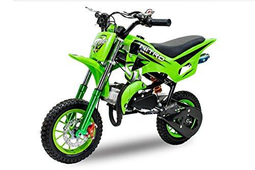Dirt Bike DS67 de 49cc, con ruedas de 10pulgadas, color verde