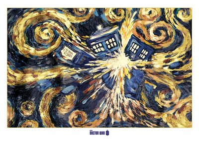 Pyramid International Doctor Who (Exploding Tardis) – Giant Poster 100 x 140 cm, Papier, mehrfarbig, 10 x 140 x 1,3 cm