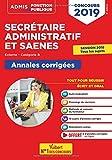 Concours SA et SAENES - Annales corrigées - Catégorie B - Admis 2019