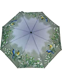 ArtBrollies impresos paraguas plegable - Pájaros azules