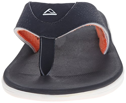 Reef Rover, Tongs Homme, Noir / Blanc, 9 EU Navy Orange