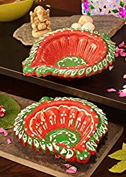 Bavla Diwali Decoration 2 Pc. Kolkata Designer Akhand Puja Diya Set