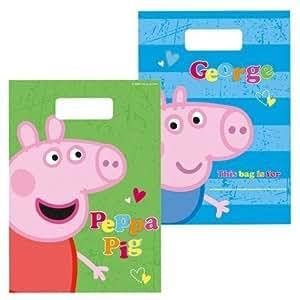 Peppa Pig & George Party Loot Bags, pack of 8