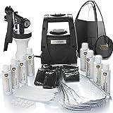 Spraytanpro TS20Pro HVLP spray Tanning kit include una tenda & usa e getta (Sticky Feet Plus Caps Plus Bras Plus infradito Plus Solutions Plus guanti)