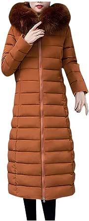 Cappotto Cappuccio Cappotti Giacca Giubbotto Trench Capispalla Moda Donna Giacche Lunghe Imbottite in Cotone Cappotti con Cappuccio in Pelliccia Sintetica Tascabile Invernale Lunghi Elegante Moda