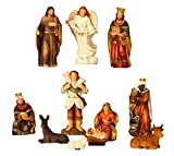 Krippenfiguren 11-teiliges Set Krippe Figuren bis 8,5 cm Weihnachten Maria Josef Jesus