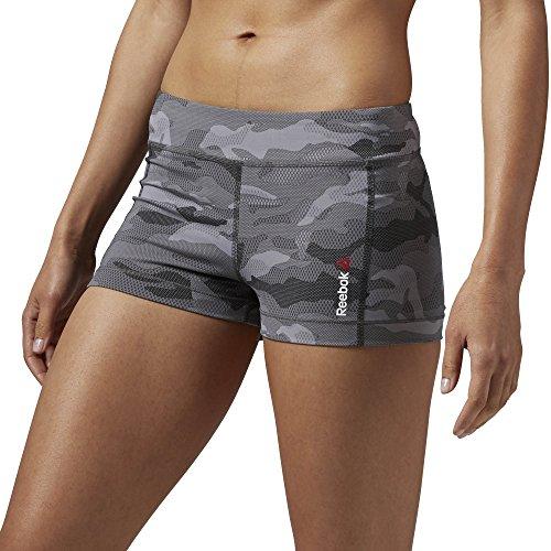 Camo Hot Shorts (Reebok Damen One Series Camo Hot Shorts, Coal, XS, AJ0710)