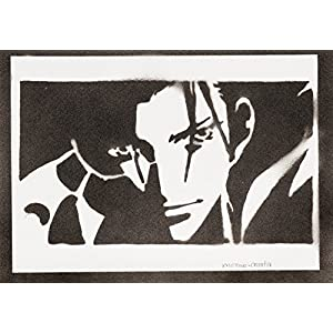 Zack Fair Final Fantasy Last Order Handmade Street Art - Artwork - Poster