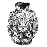 Cowesoo AHEGAO Sexy Mädchen Drucken Hipster Anime lustig Sweatshirts Unisex Hoodies