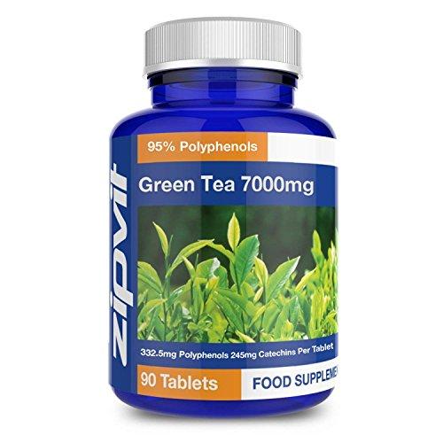 Grüner Tee Extrakt 7000 mg (extrastark) x 90 Tabletten | Antioxidant - Hilft beim Abnehmen