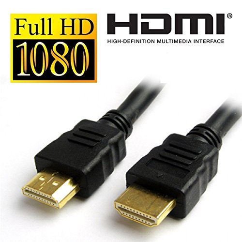 UK-DIGITAL 1,5 Mt Premium HDMI Kabel 1.4 V 3D High Speed Ultra HD Auflösung Full HD 1080P Blei 150 cm Qualität High Definition Multimedia Interface in Blister Verpackung vergoldet 1,5 Mt