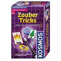 Kosmos-657413-Spielset-Zauber-Tricks KOSMOS 657413 – Magic Zauber-Tricks, Zaubern lernen im Handumdrehen, Mit Zauberstab und Utensilien für 20 magische Tricks, Kompaktes Format, Mitbringspiel, Experimentierset -