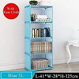 Deesjue Einfaches mehrstufiges Bücherregal für kreative Ablage Blue 5L A