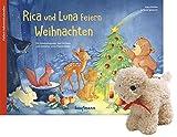 Rica und Luna feiern Weihnachten mit Stoffschaf: Ein Adventskalender zum Vorlesen und Gestalten eines Fensterbildes
