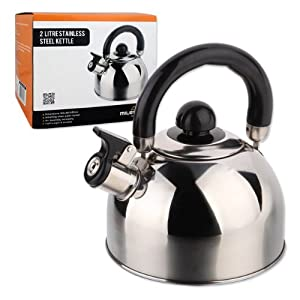 51X22K3RqEL. SS300  - Milestone Camping Whistling Kettle Teapot Coffee Pot Indoor Outdoor Camping Hiking Picnic
