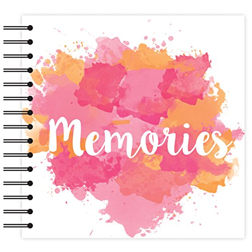 Simply Creative Plain White - Memories PInk Scrapbook Album 12