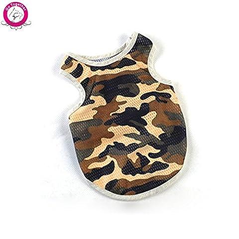 Sypure Dog (TM) Fashion Dog Camouflage Vest Mesh respirante Summer T-shirts V¨ºtements XS-XXL