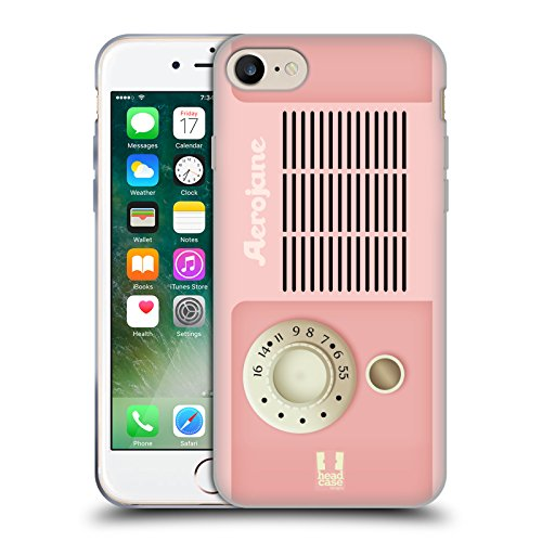 Head Case Designs Nostalgia Radio Telefono Vintage Cover Morbida In Gel Per Apple iPhone 7 / iPhone 8 Aerojane