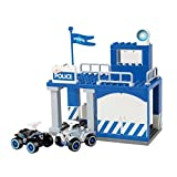 39 tlg. PlayBIG Bloxx Bobby Car Polizei Station Auto Wache Set Bauklötze Kleinkind Spielzeug