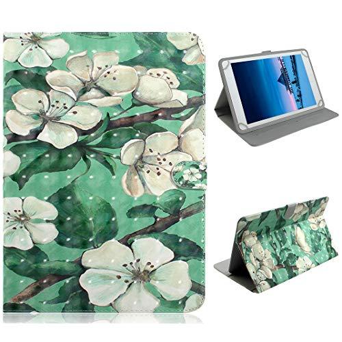 LolStore for 7-Zoll-Universaltablett Flip Tablet-Hülle für Kinders, Ultra dünn Gemalt Leder Fälle with Gestell for 7-Zoll-Universaltablett,Blume