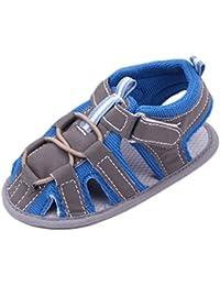 V-SOL Sandalias Abiertas De Vestir Tela Para Bebé Con Velcro 0-1año