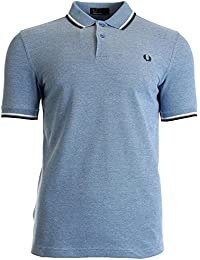 POLO FRED PERRY A BANDES PRINCE BLUE M3600-661