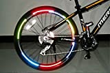 koonard Reflektor fluoreszierend Fahrrad MTB Fahrrad-Aufkleber Radfahren Felgen Reflektierende Aufkleber Aufkleber Zubehör (rot)