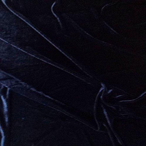 NAVY BLUE VELVET Weiche Velours Stoff, Kleid, Dance, Kostüm, Abend-150cm breit (Pro Meter) (Blue Dance Kostüm Kleid)