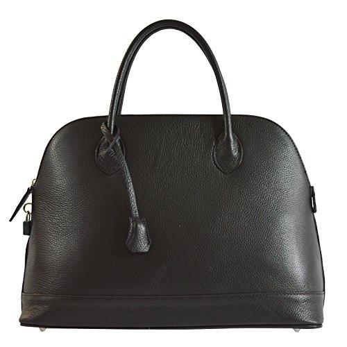 CTM Élégant sac à main de la femme dans cuir véritable italien molle fabriqué en Italie 40x30x15 Cm