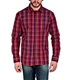 Enryca Men's Casual Shirt(ENMSH 0100RED ...