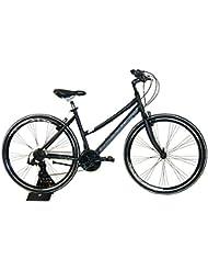 """Bicicleta Híbrida Cicli Adriatica FY mujeres cuadro de aluminio 28"""" 21 velocidades (Negro)"""