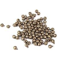100pcs Antichi Risultati Dei Monili Tallone Jingle Bells Fascino Bronze Ottone 6mm