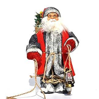 LINAG Papá Noel Muñeca para Navidad Decoración, Perchero De Arpillera Decoración De Figura Grande Papá Noel para Niños Regalo De Cumpleaños