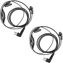 Coodio M2HS9 Motorola Radio Auriculares 2 Pin VOX/PTT Micro-Auricular Micrófono Seguridad y Bodyguard Para 2-Pin Motorola Plug Walkie-Talkie Transceptor Emisor y Receptor PMR - Par